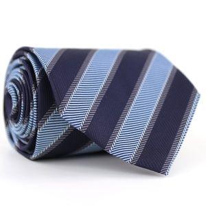 Borrelli Napoli Silk Necktie Blue/Gray Stripes